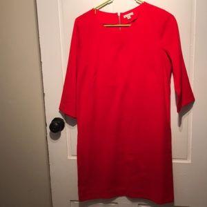 Red GAP dress with zipper detail